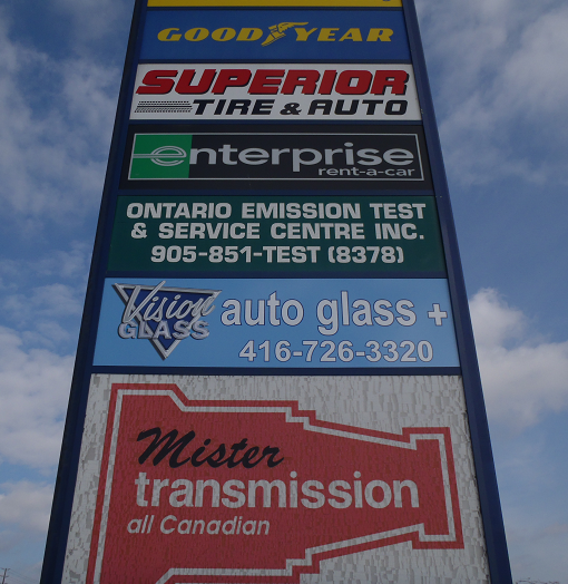 front signage auto glass